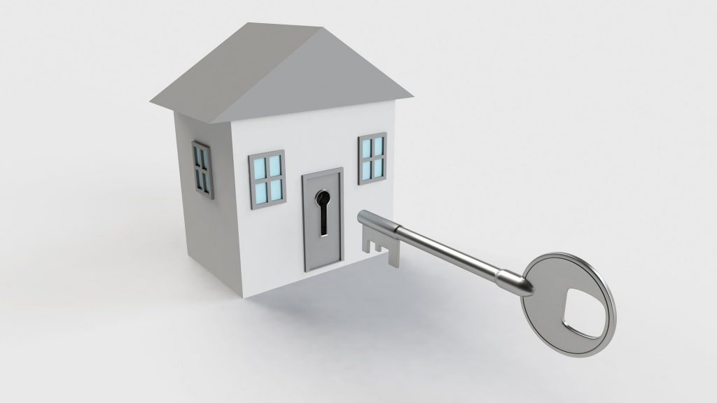 Ready-to-move-in home with the house key.