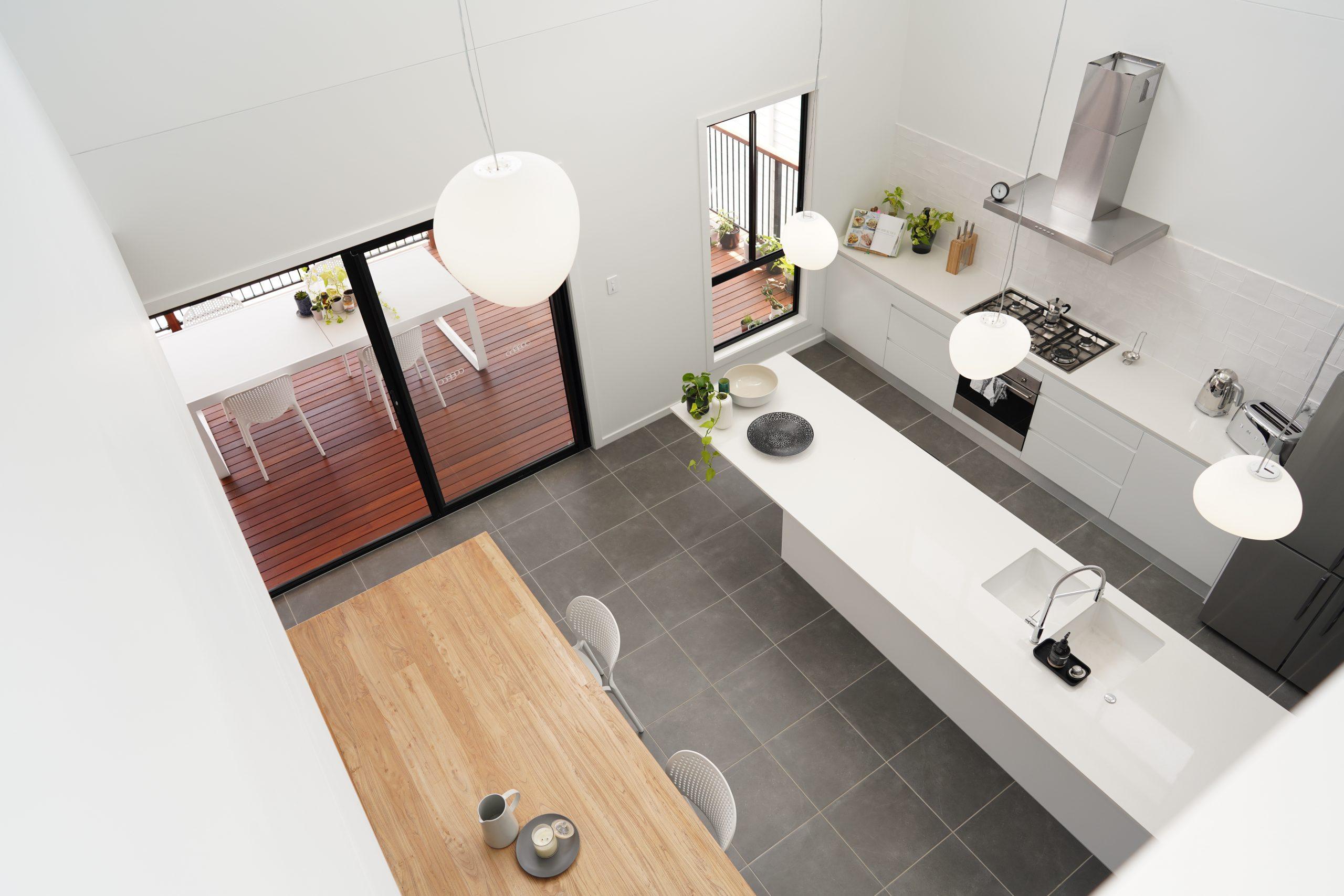Interior shot of Preferred Homes' open-plan design